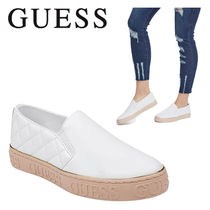 Guess Casual Style Plain Leather Low-Top Sneakers
