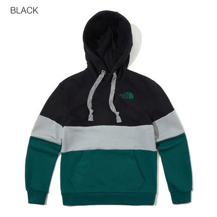 THE NORTH FACE Hoodies Unisex Long Sleeves Cotton Oversized Logo Outdoor Hoodies 2