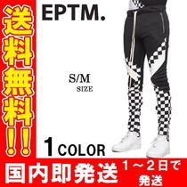 EPTM Printed Pants Other Check Patterns Unisex Street Style
