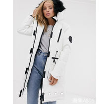Superdry Casual Style Faux Fur Blended Fabrics Street Style Plain