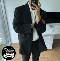 ASCLO Short Plain Oversized Blazers Jackets