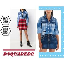 D SQUARED2 Casual Style Denim Blended Fabrics Tie-dye Long Sleeves
