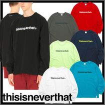 thisisneverthat Unisex Street Style Short Sleeves T-Shirts
