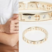 Ron Herman Casual Style Unisex Street Style 18K Gold Rings