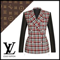 Louis Vuitton Other Check Patterns Wool Elegant Style Jackets