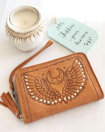 Studded Leather Handmade Long Wallet  Long Wallets