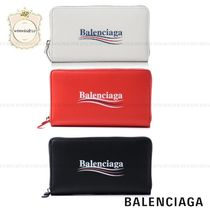 BALENCIAGA EVERYDAY TOTE Unisex Leather Long Wallets