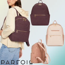 PARFOIS Casual Style Bi-color Backpacks