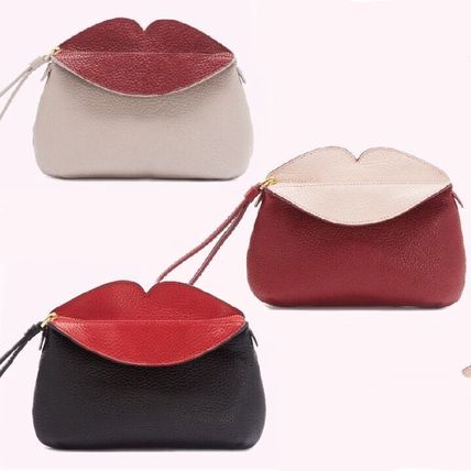 Stripes 2WAY Bi-color Leather Party Style Clutches
