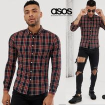 ASOS Button-down Gingham Long Sleeves Shirts