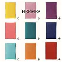 HERMES Calvi Leather Small Wallet Card Holders