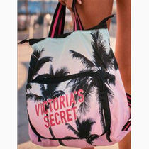 Victoria's secret Tropical Patterns Casual Style Nylon Logo Backpacks