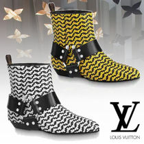 Louis Vuitton Leather Elegant Style Ankle & Booties Boots