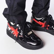 A BATHING APE Unisex Blended Fabrics Street Style Sneakers