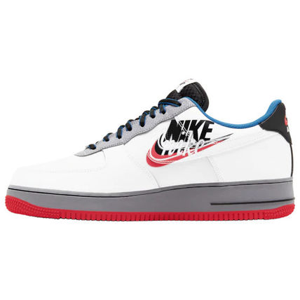 Nike AIR FORCE 1 2019 20AW Blended Fabrics Street Style Collaboration Leather Sneakers (CT1621 001, CT1620 100)