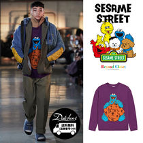beyond closet Crew Neck Cable Knit Casual Style Unisex Street Style