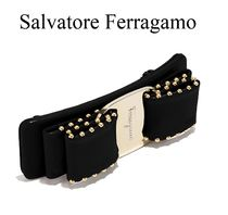 Salvatore Ferragamo Barettes Studded Leather Party Style Clips