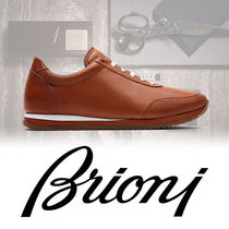 Brioni Plain Leather Sneakers