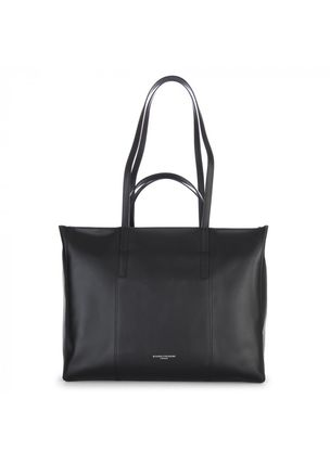 A4 2WAY Plain Leather Handmade Office Style Totes
