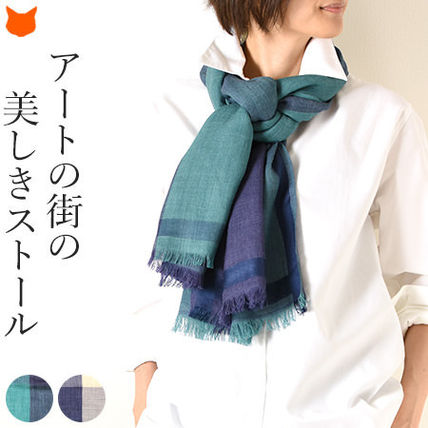 Other Plaid Patterns Wool Elegant Style Accessories