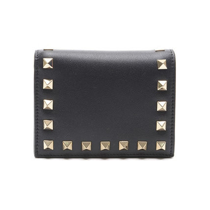 VALENTINO Folding Wallets Street Style Leather Folding Wallets 7