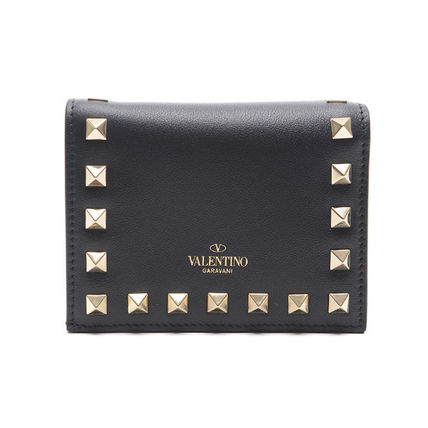 VALENTINO Folding Wallets Street Style Leather Folding Wallets 8