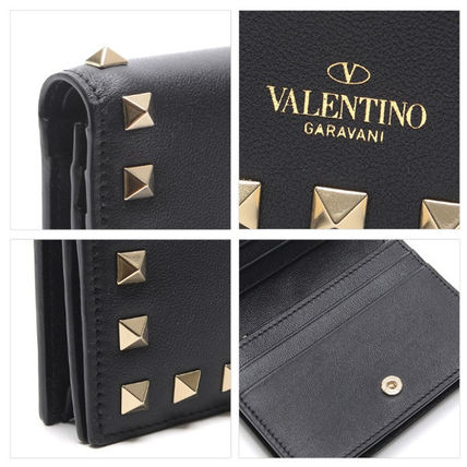 VALENTINO Folding Wallets Street Style Leather Folding Wallets 9