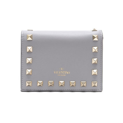 VALENTINO Folding Wallets Street Style Leather Folding Wallets 11