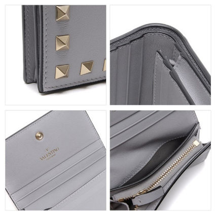 VALENTINO Folding Wallets Street Style Leather Folding Wallets 12