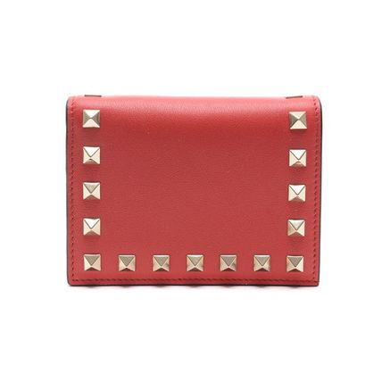VALENTINO Folding Wallets Street Style Leather Folding Wallets 13