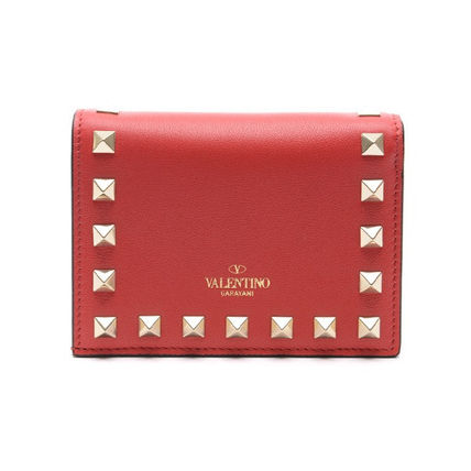 VALENTINO Folding Wallets Street Style Leather Folding Wallets 14
