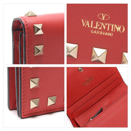 VALENTINO Folding Wallets Street Style Leather Folding Wallets 15