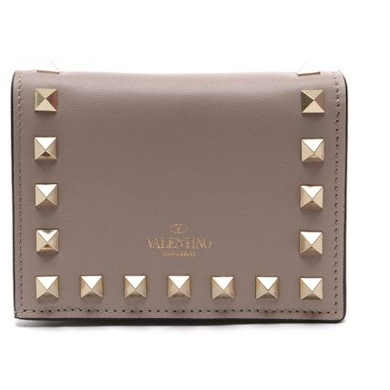 VALENTINO Folding Wallets Street Style Leather Folding Wallets 16