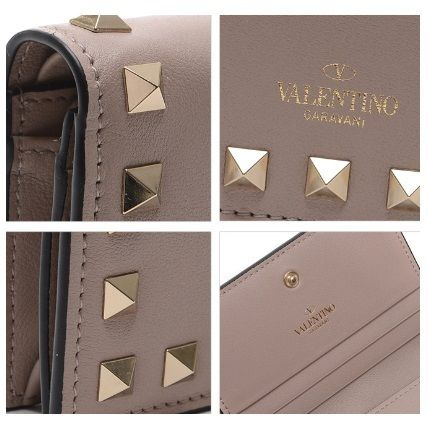 VALENTINO Folding Wallets Street Style Leather Folding Wallets 17