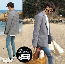 ASCLO Short Glen Patterns Oversized Blazers Jackets