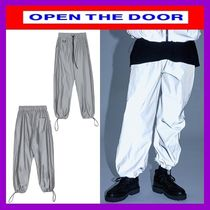 OPEN THE DOOR Unisex Street Style Oversized Pants
