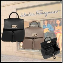 Salvatore Ferragamo Calfskin Elegant Style Backpacks