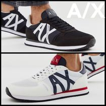 A/X Armani Exchange Blended Fabrics Street Style Plain Sneakers