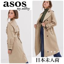 ASOS Casual Style Plain Medium Trench Coats