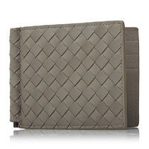 BOTTEGA VENETA Unisex Calfskin Plain Handmade Folding Wallets