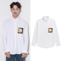 beyond closet Casual Style Unisex Street Style Collaboration Long Sleeves