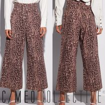 Cameo the Label Leopard Patterns Denim Long Wide & Flared Jeans