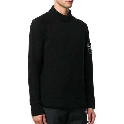 Logos on the Sleeves Logo Sweaters