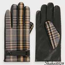 Ron Herman Tartan Unisex Plain Leather Handmade