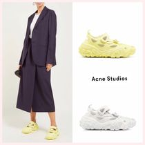 Acne Round Toe Rubber Sole Casual Style Suede Street Style Plain
