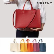 FIBRENO Plain Office Style Totes