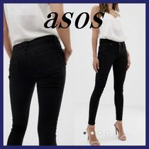 ASOS Blended Fabrics Street Style Plain Cotton Long Skinny Jeans