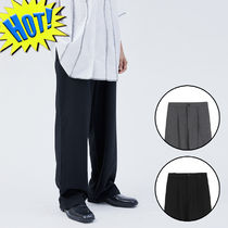 OPEN THE DOOR Slax Pants Unisex Street Style Plain Cotton Slacks Pants