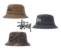 STUSSY Street Style Wide-brimmed Hats