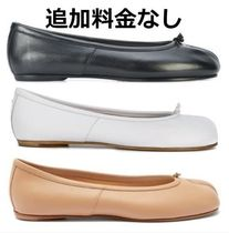 Maison Margiela Tabi Plain Leather Elegant Style Flats